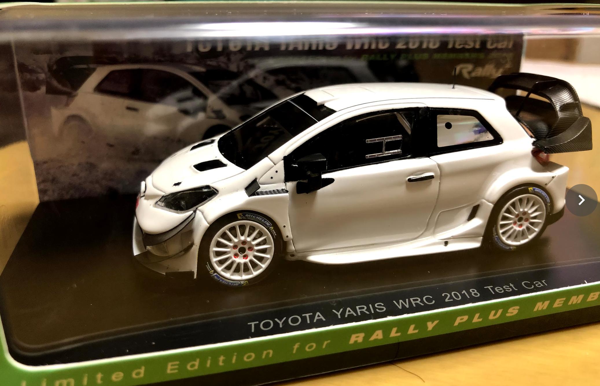ラリープラスネットからラリプラメンバーズに『1/43 TOYOTA YARIS WRC2018 TEST CAR』が来た!
